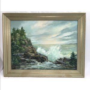 Amanda Williams Oil Painting Nautical Seascape Old